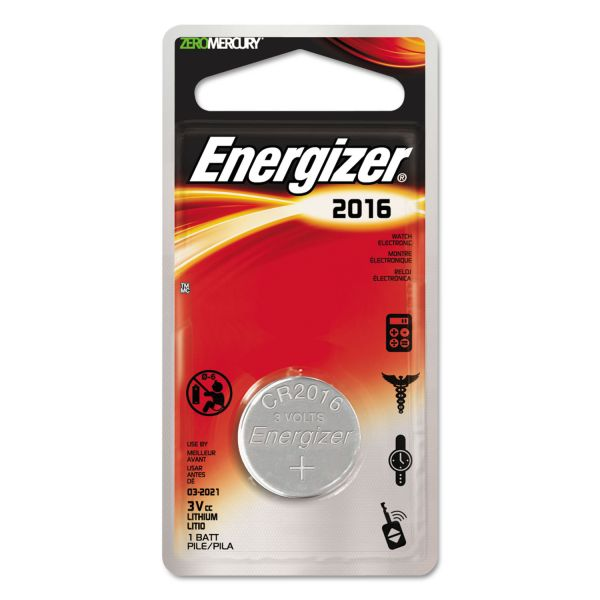 Energizer 2016 Watch/Electronic Battery