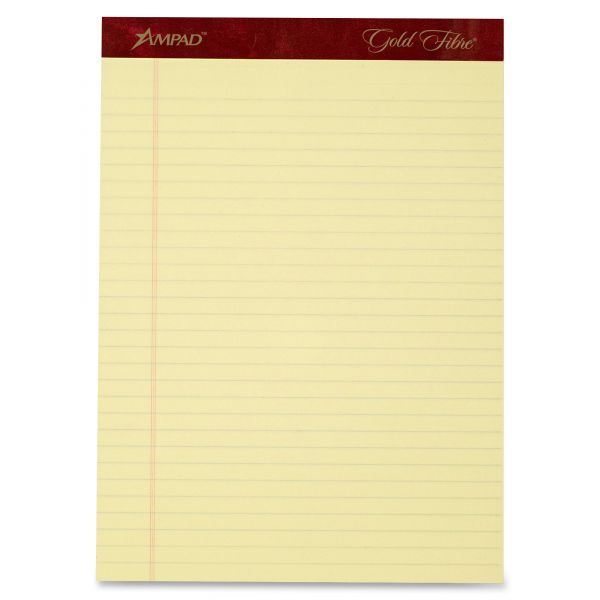 Ampad Gold Fibre Letter-Size Legal Pads