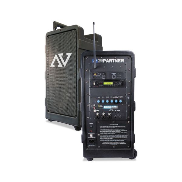 AmpliVox Portable Wireless Digital Travel Partner Public Address System, Black