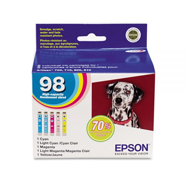 Epson 98 Color Combo Pack High Yield Ink Cartridges (T098920)
