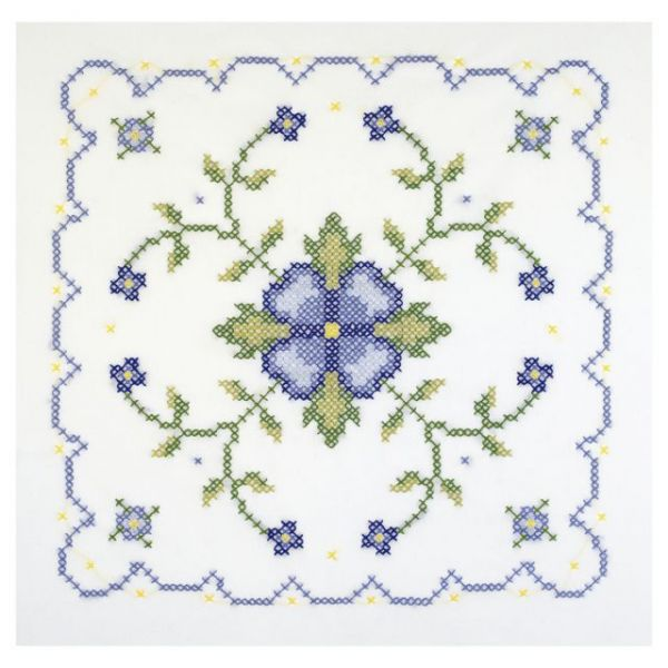 "Stamped Cross Stitch Quilt Blocks 18""X18"" 6/Pkg"