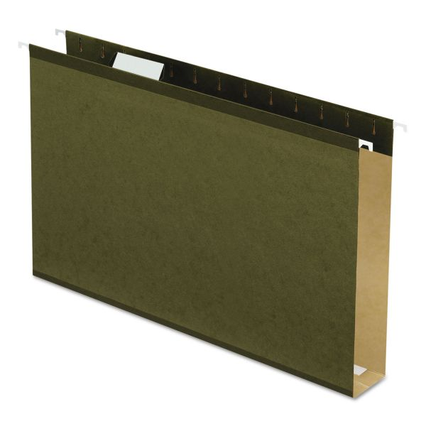 "Pendaflex Reinforced 2"" Extra Capacity Hanging Folders, Legal, Standard Green, 25/Box"