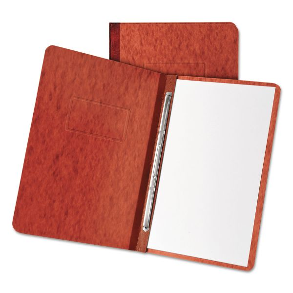 """Oxford Pressboard Report Cover, 2 Prong Fastener, Letter, 3"""" Capacity, Red"""