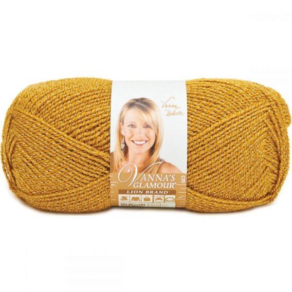 Lion Brand Vanna's Glamour Yarn - Gold