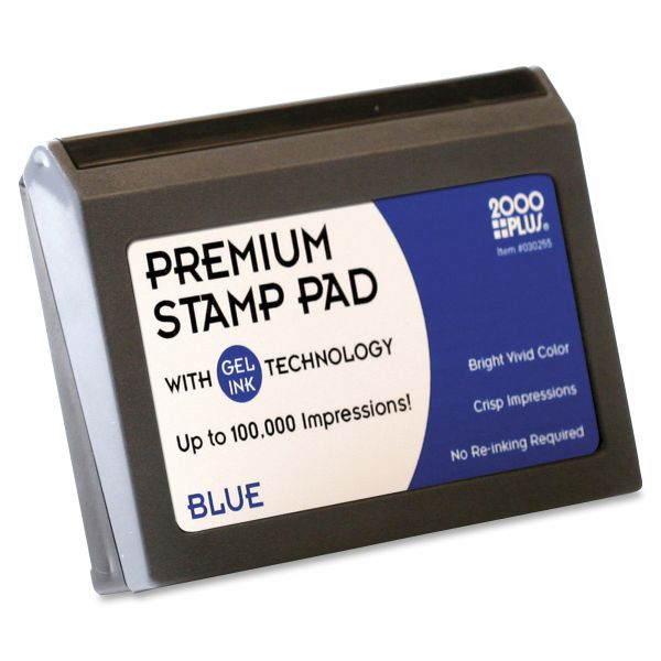 COSCO Microgel Stamp Pad for 2000 PLUS, 2 3/4 x 4 1/4, Blue