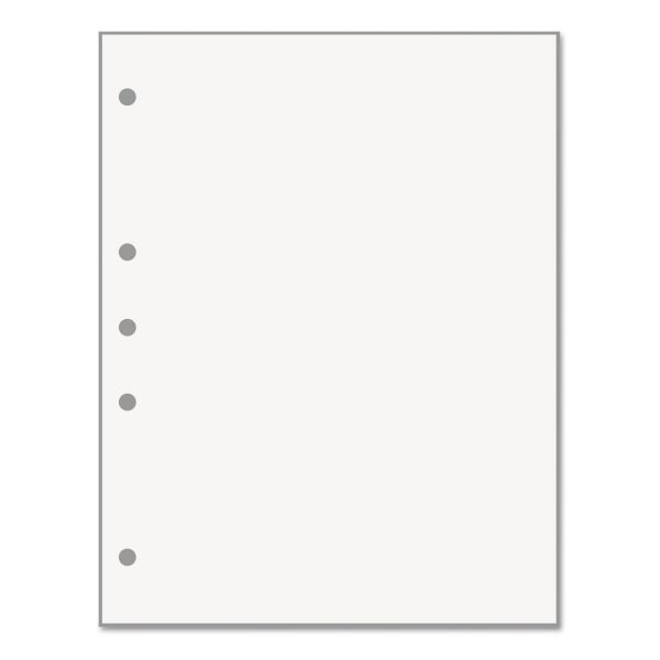 PrintWorks Professional Professional Office Paper, 5-Hole Left Punched, White, Letter, 20lb, 500/RM