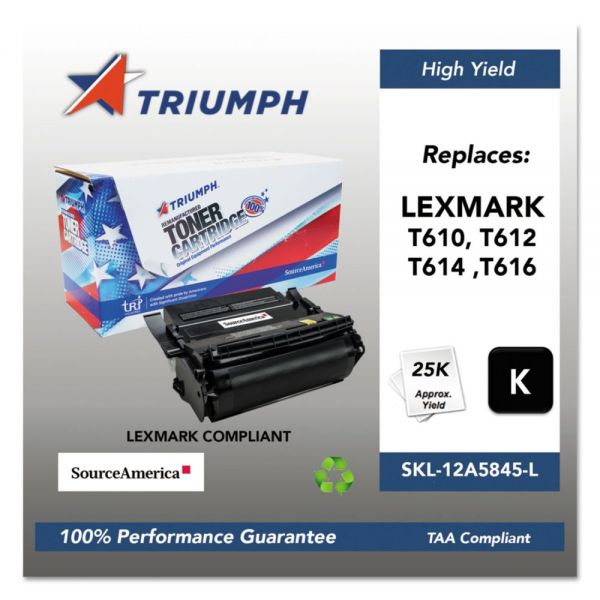 Triumph 751000NSH0210 Remanufactured 12A5845 High-Yield Toner, Black