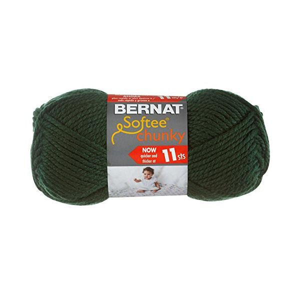 Bernat Softee Chunky Yarn - Dark Green