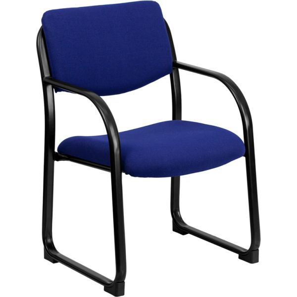 Flash Furniture Navy Fabric Executive Side Chair