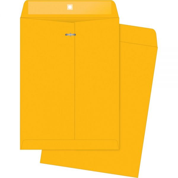 "Business Source Rugged Gummed 12"" x 15 1/2"" Clasp Envelopes"