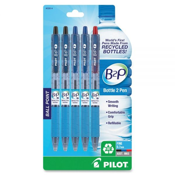 Pilot Bottle to Pen (B2P) B2P Recycled Retractable Ballpoint Pens