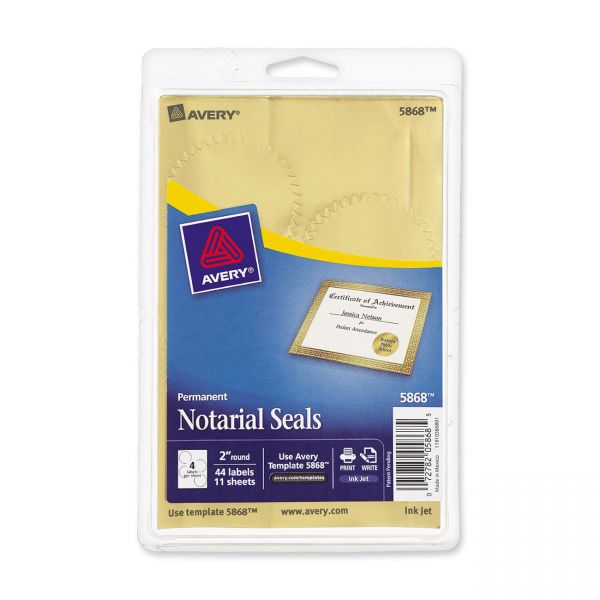 Avery Print or Write Notarial & Certificate Seal