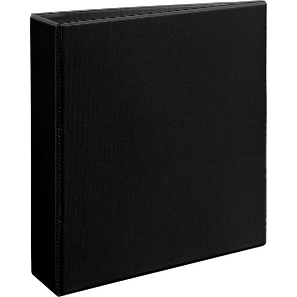 "Avery Heavy-Duty Non Stick 3-Ring View Binder, 2"" Capacity, Slant Ring, Black"