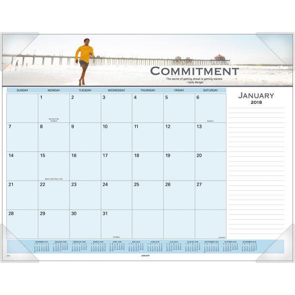 Visual Organizer Panoramic Motivational Monthly Desk Pad Calendar
