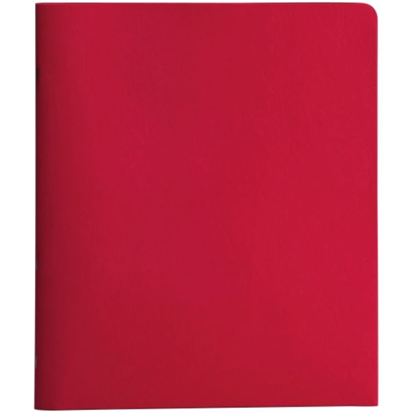 Smead Heavyweight Red Two Pocket Folders with Tang Strip Style Fasteners