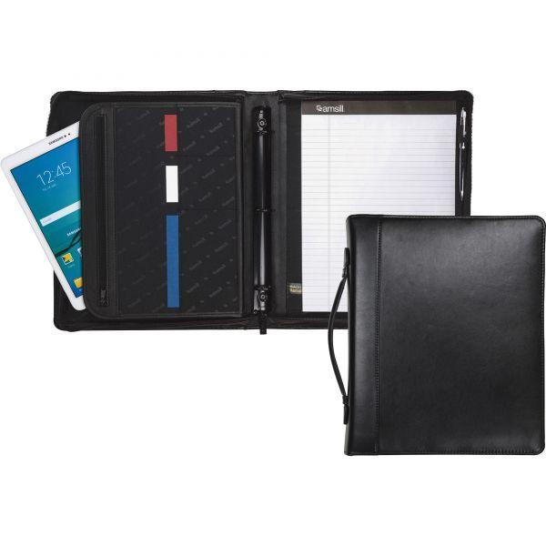 Samsill Regal Leather iPad Pocket Zipper Binder