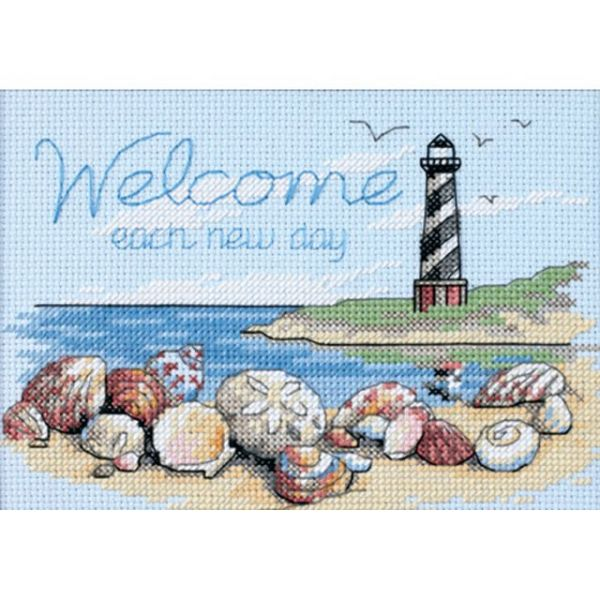Welcome Each New Day Counted Cross Stitch Kit