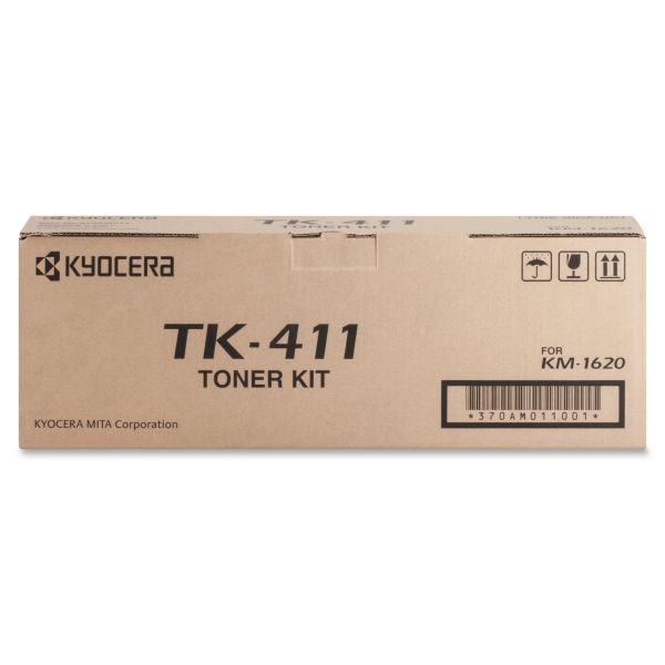 Kyocera 370AM011 (TK411) Toner Cartridge, 15000 Page-Yield, Black