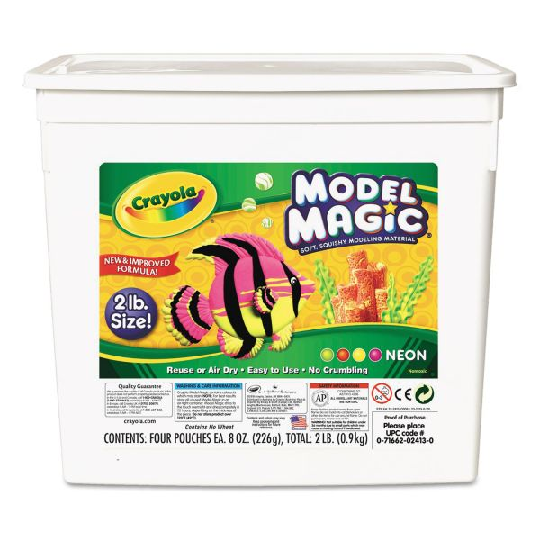 Crayola Model Magic Neon Modeling Material Bucket