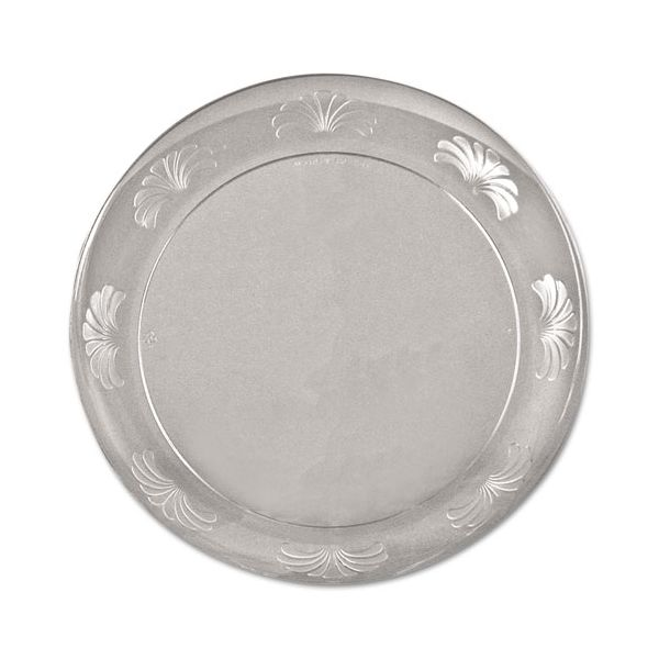 WNA Designerware Plastic Plates, 7 1/2 Inches, Clear, Round, 10/Pack