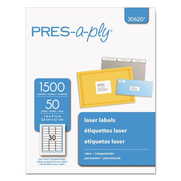 Pres-A-Ply Clear Address Labels