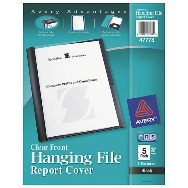 Avery Hanging Clear Front Report Cover