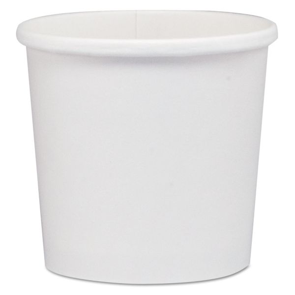 """Dart Flexstyle Dbl Poly Paper Containers, WH, 12 oz, 3 3/5"""", 25/Bag, 20 Bags/Carton"""