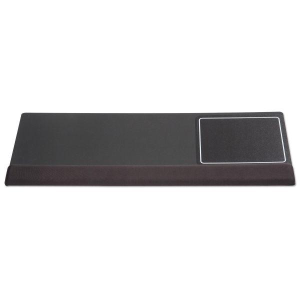 Kelly Computer Supply Extended Keyboard Wrist Rest, Memory Foam, Non-Skid Base, 27 x 11 x 1, Black