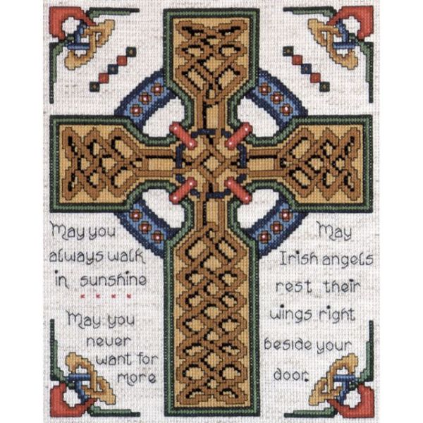 Celtic Cross Counted Cross Stitch Kit