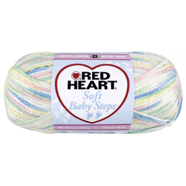 Red Heart Soft Baby Steps Yarn - Binky Print