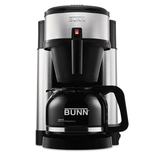 bunn 10 cup velocity brew nhs coffee brewer black