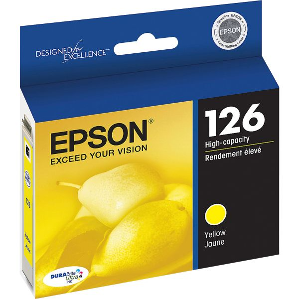 Epson 126 Yellow High-Capacity Ink Cartridge (T126420)