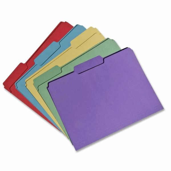 Skilcraft Recycled Single-Ply Top Tab Colored File Folders