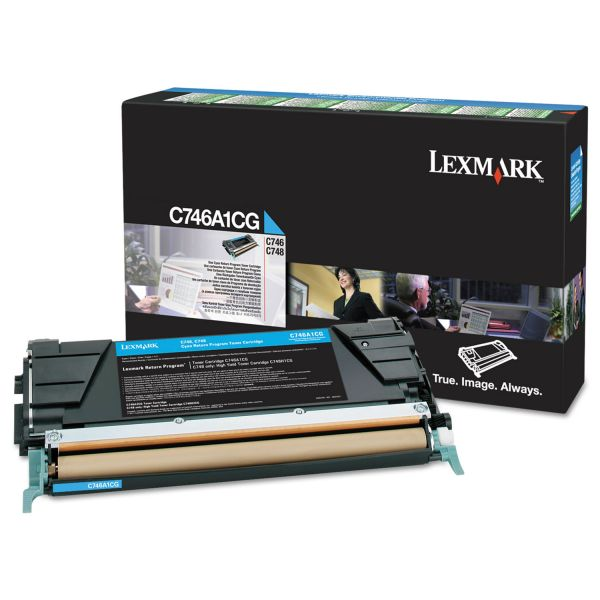 Lexmark C746A1CG Cyan Return Program Toner Cartridge