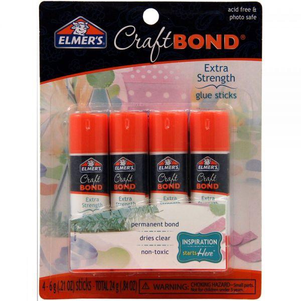 Elmer's CraftBond(R) Extra Strength Glue Sticks 4/Pkg