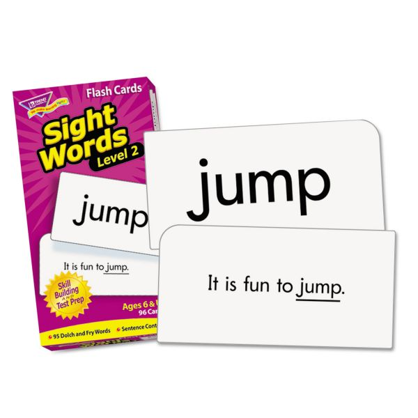 TREND Skill Drill Flash Cards, 3 x 6, Sight Words Set 2