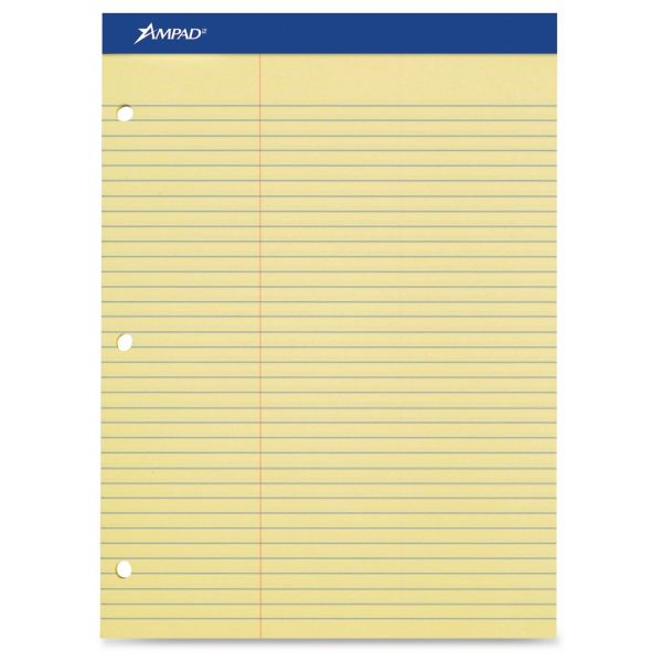 Ampad Double Sheet Letter-Size Yellow Legal Pad