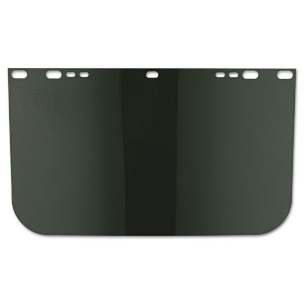 "Anchor Brand Face Shield Visor, 15 1/2"" x 9"", Dark Green, Unbound, Plastic"