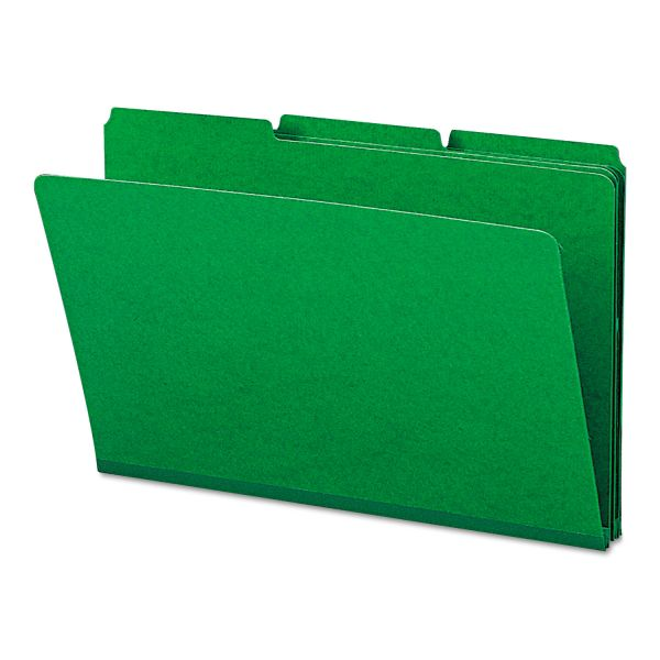 Smead Green Colored Pressboard File Folders