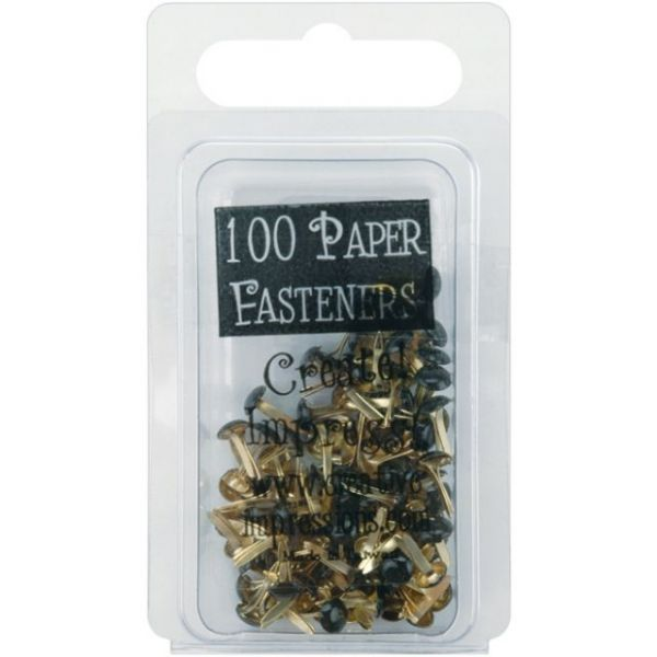Mini Painted Metal Paper Fasteners 3mm 100/Pkg