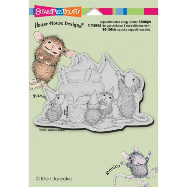 "Stampendous House Mouse Cling Rubber Stamp 5.5""X4.5"" Sheet"