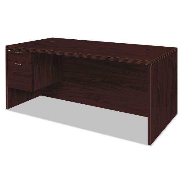 HON Valido 11500 Series Left Pedestal Desk, 72w x 36d x 29 1/2h, Mahogany