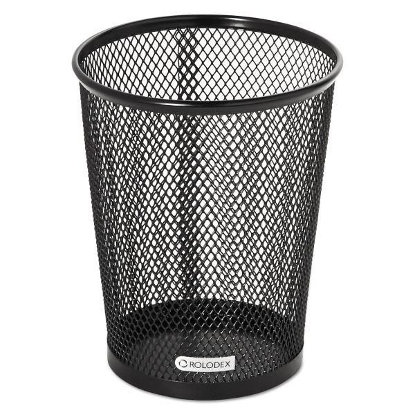 Nestable Jumbo Wire Mesh Pencil Cup, 4 3/8 dia. x 5 1/8, Black