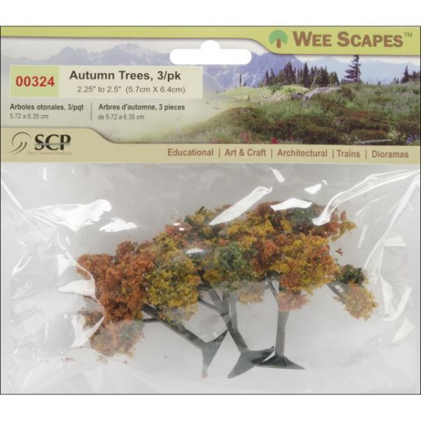 """Autumn Tree 2.25"""" To 2.5"""" 3/Pkg"""