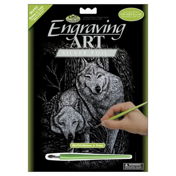 Silver Foil Engraving Art Kit