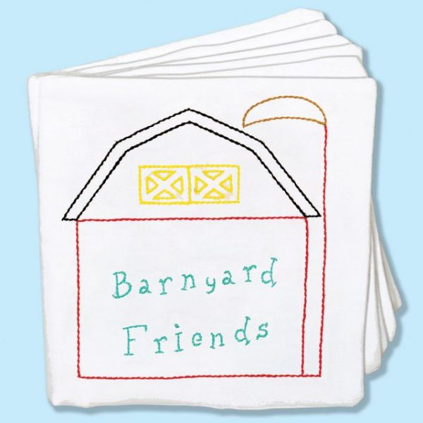 """Stamped Cloth Nursery Books 8""""X8"""" 12 Pages"""