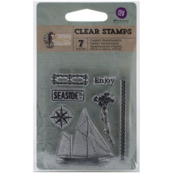 "Seashore Clear Stamps 2.5""X3"""