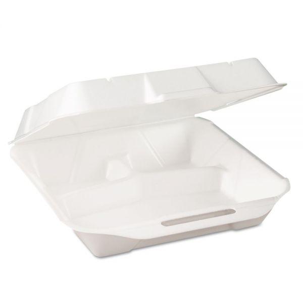 Genpak Jmb Foam Hinged-Lid Deli Containers, WH, 9 1/4 x 3 1/4 x 10 1/4, 100/PK, 2 PK/CT