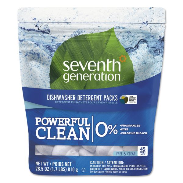 Seventh Generation Natural Dishwasher Soap Packs