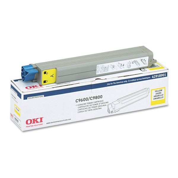 Oki 42918901 Yellow Toner Cartridge